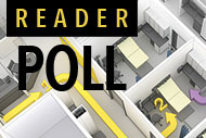 3D architectural rendering and Reader Poll logo