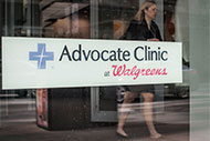 Advocate Clinic at Walgreens signage
