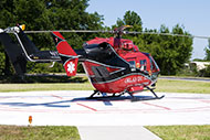 Orlando Regional Healthcare Helicotper at St. Cloud Hospital in St. Cloud Florida