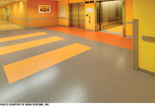 Rubber Flooring Served As The Starting Point For A Colorful Sustainable Floor Plan At Vacaville Medical Center